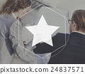 Favorite Star Rating Popular Graphic Concept 24837571