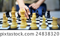 Chess Game Strategy Thinking Hobbies Leisure Concept 24838320