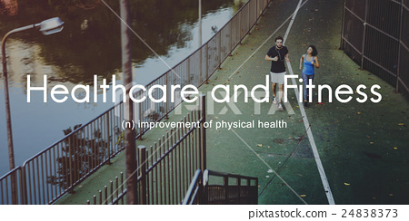 Healthcare And Fitness Outdoors People Graphic Concept 24838373