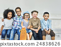 Children Friendship Togetherness Playful Happiness Concept 24838626