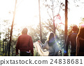 People Friendship Hangout Traveling Destination Camping Concept 24838681