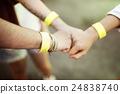 Agreement Hands Bump Style Concept 24838740