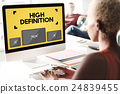 High Definition Images Network Resolution Stream Concept 24839455