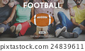 American Football Ball Rugby Game Concept 24839611