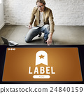 Label Bookmark Content Web Online Management Concept 24840159