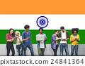 India Flag Patriotism Indian Pride Unity Concept 24841364