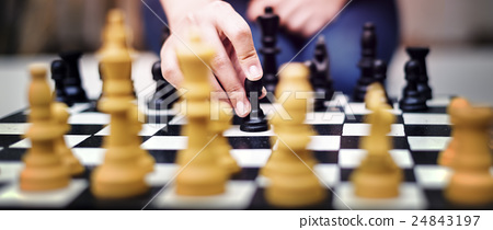 Chess Game Strategy Thinking Hobbies Leisure Concept 24843197