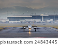 Small Aircraft Taxiing at Airport 24843445