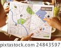 Map Adventure Destination Navigation Route Trip Concept 24843597
