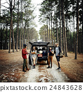 People Friendship Hangout Traveling Destination Camping Concept 24843628