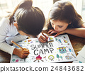 Summer Kids Camp Adventure Explore Concept 24843682