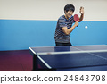 Table-Tennis Athlete Ping-Pong Sportman Sport Concept 24843798