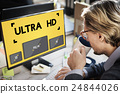 Ultra HD Definition Monitor Resolution Screen Concept 24844026