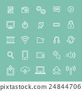 Vector Illustration UI Technology Icon Concept 24844706