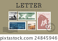 Airmail Mail Postcard Letter Stamp Concept 24845946