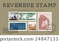 Airmail Mail Postcard Letter Stamp Concept 24847133