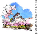 Tsuruga castle in the Aizu Spring 24847528