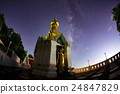 Milky Way at Standing gold Buddha image  24847829