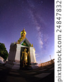 Milky Way at Standing gold Buddha image  24847832