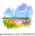 boso, spring, water color 24848018