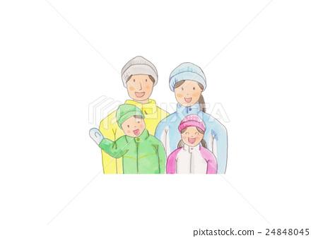 Family family ski illustration 24848045