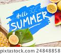 Summer Pineapple Oranges Watermelon Concept 24848858