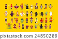 Set of characters for Halloween in a flat style 24850289