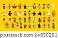 Set of characters for Halloween in a flat style 24850291
