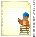 Notebook page with owl teacher 3 24850424