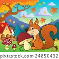 Squirrel with mushroom theme image 2 24850432