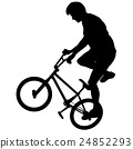 Set silhouette of a cyclist male 24852293