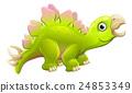 Cute Cartoon Dinosaur Stegosaurus 24853349