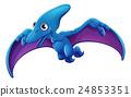 Cute Pterosaur Cartoon Flying Dinosaur 24853351