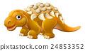 Cute Edmontonia Cartoon Dinosaur 24853352