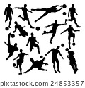 Football Soccer Player Silhouettes 24853357