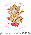Cartoon representation of eastern god Ganesha 24854320