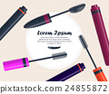 Set of mascara on the table with place for your te 24855872