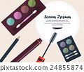 Womens cosmetics for eyes on a table with place fo 24855874