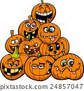 cartoon halloween pumpkins group 24857047
