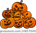 cartoon halloween pumpkins 24857049