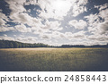 Cloudy weather over a meadow 24858443