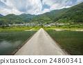 asao low water crossing, bridge that submerges during floods, niyodo river 24860341