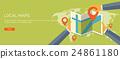 Vector illustration. Flat background. Navigation 24861180
