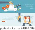 Vector illustration. Flat header. Shopping. Web 24861284