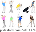 golfers illustration 24861374