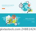 Flat travel background. Summer holidays, vacation 24861424