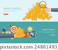 Flat vector illustration background. Money, money 24861493