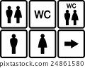 set of wc icons 24861580