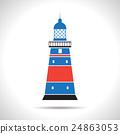 Vector lighthouse icon 24863053