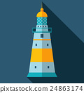 Vector lighthouse icon 24863174